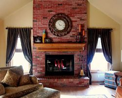 Updating Ugly Brick, Staining a Brick Fireplace (2)