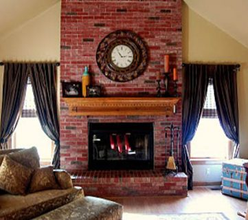 Update the Color of your Brick; Stained Brick Fireplace