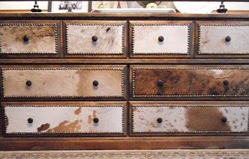 Dresser Re-do With Cowhide Drawer Fronts