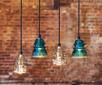 Recycling Glass Insulators Into Pendant Light
