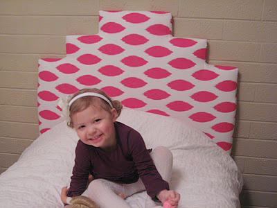 little girls upholstered bed 11