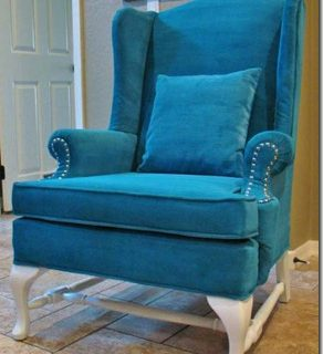 A New Look for and Old Chair: Painted Upholstery