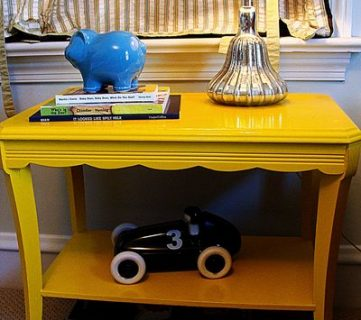 Yellow Side Table Before And After