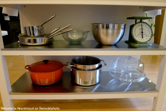 Add Color To Your Kitchen With IKEA Kitchen Island With Open Shelving, Welcome To Heardmount On Remodelaholic
