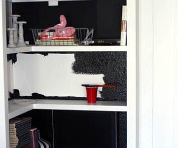PR 2: Painting the Bookcase Interiors Black!