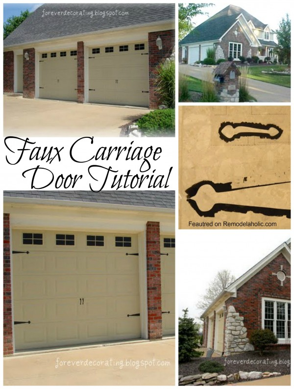 Faux Carriage Door Tutorial