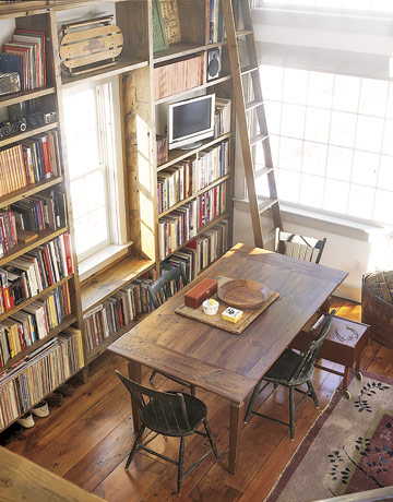 Remodelaholic farmhouse style for Dining room library