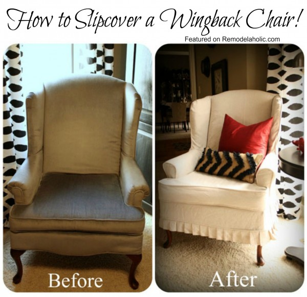 Slipcovered Wingback Chair..(that I Want!)