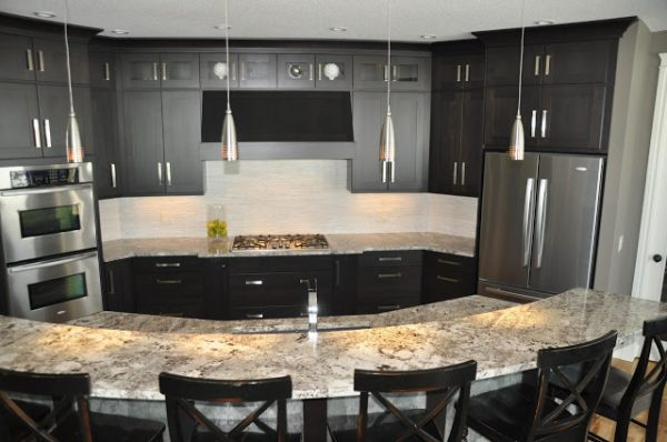 Remodelaholic  Fabulous Kitchen Design; with Black Cabinets
