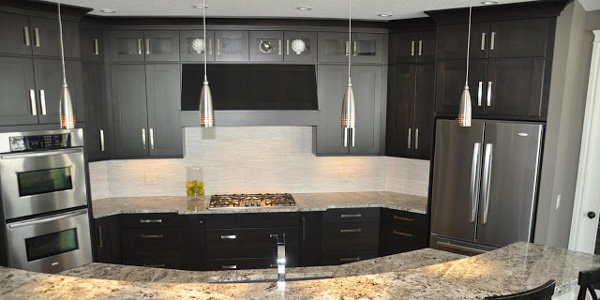 Remodelaholic fabulous kitchen design with black cabinets for Kitchen cabinets 36 x 42