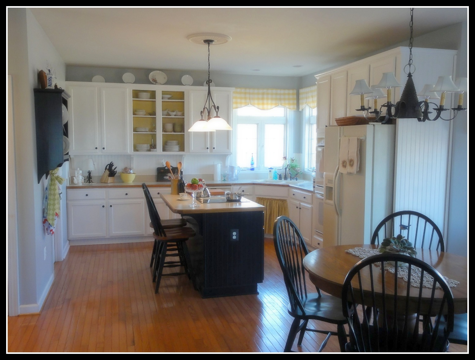 kitchen remodel with pops of yellow