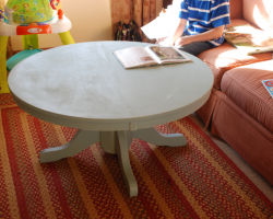kitchen table to coffee pedestal table