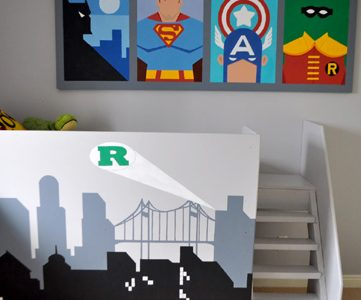 Amazing Superhero Boys Room!