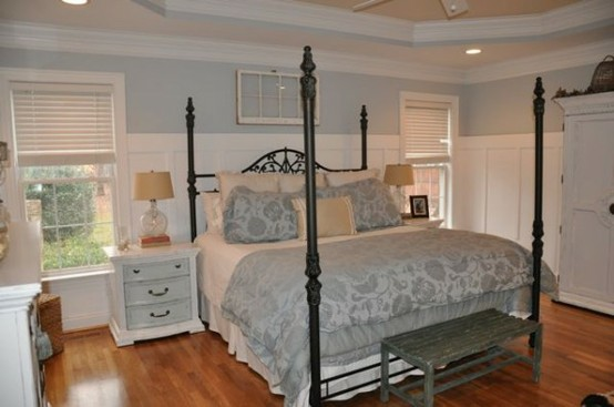 master bedroom with board and batten wall tutorial