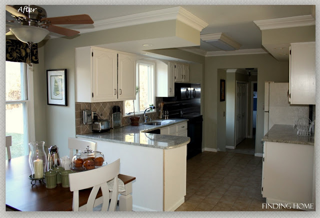 Before-and-after-kitchen-oak cabinets-painted-white (2)
