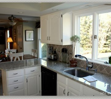 From Oak to Beautiful White Kitchen Cabinets