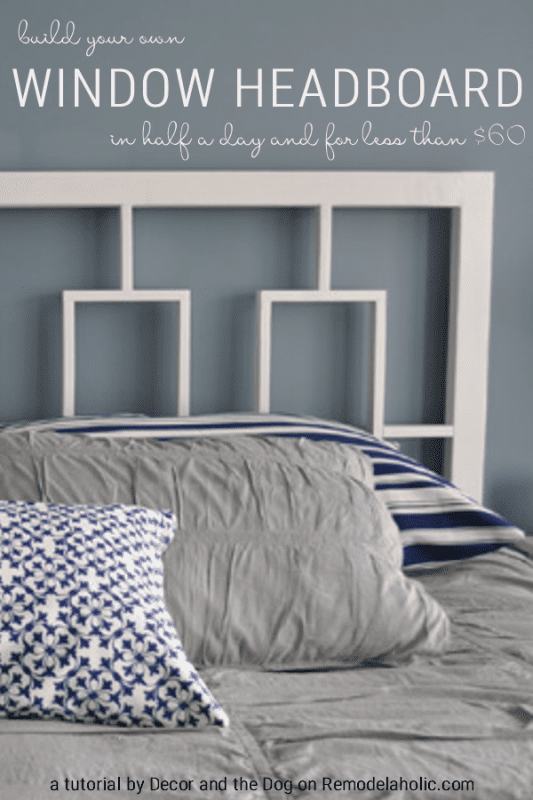 Build this West Elm knock off headboard. Budget-friendly and so cute! #Remodelaholic