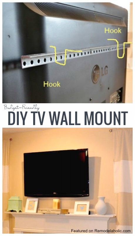 DIY TV Wall Mount For Under $15 Imperfectly Polished On Remodelaholic