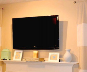 How To Wall Mount A Flat Screen TV For Under 15 Dollars Tutorial Featured On Remodelaholic 460x800 (2)