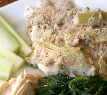 Artichoke Baked Fish Fillets and Recipe Link Up party