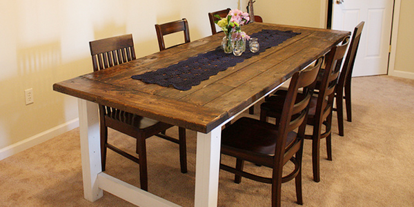 Remodelaholic | Beautiful Farmhouse Dining Table