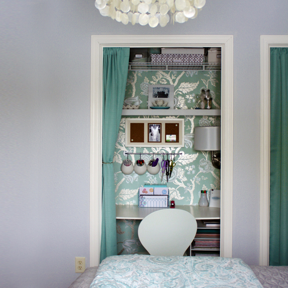 closet office closet office & Remodelaholic | Closet Office Inspiration Galore!!