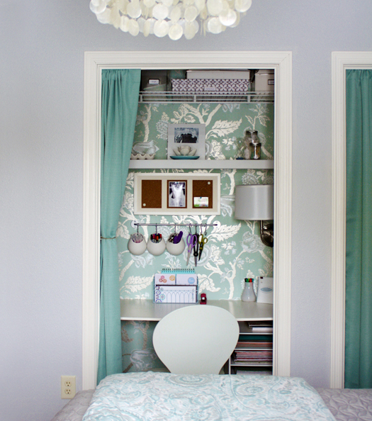 remodelaholic | closet office inspiration galore!!