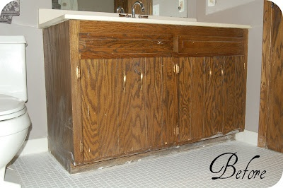 remodelaholic | updating a bathroom vanity
