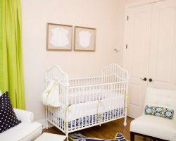 lime and navy nursery design