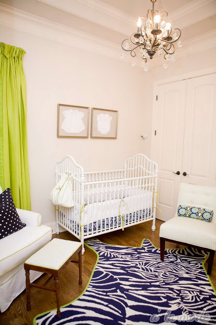 lime and navy nursery design