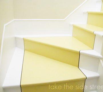 Beautiful Painted Stair Runner