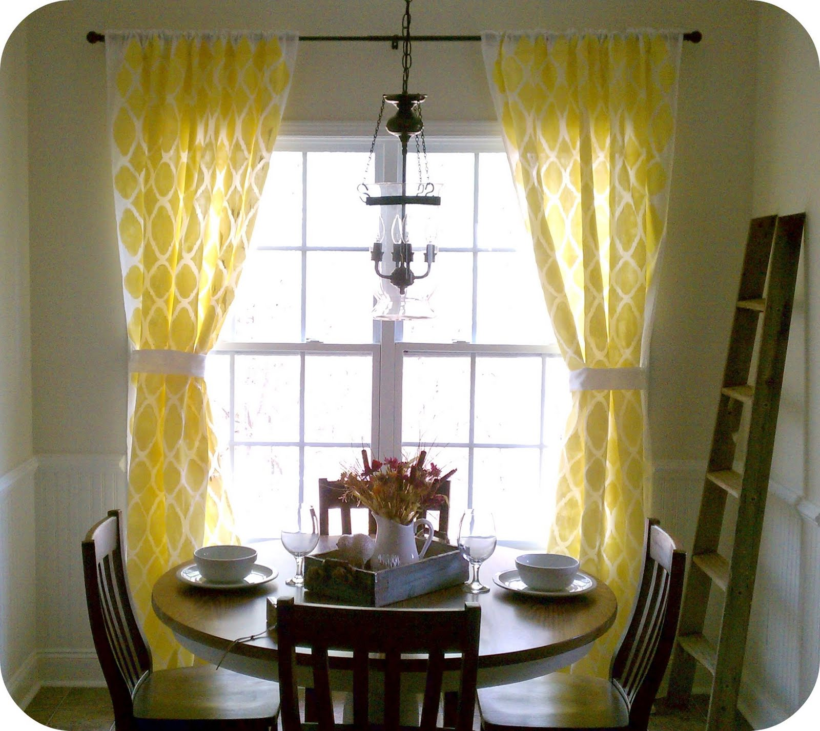 stenciled drapes tutorial