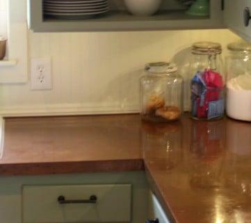 Copper Countertops Tutorial; Kitchen Renovation Idea