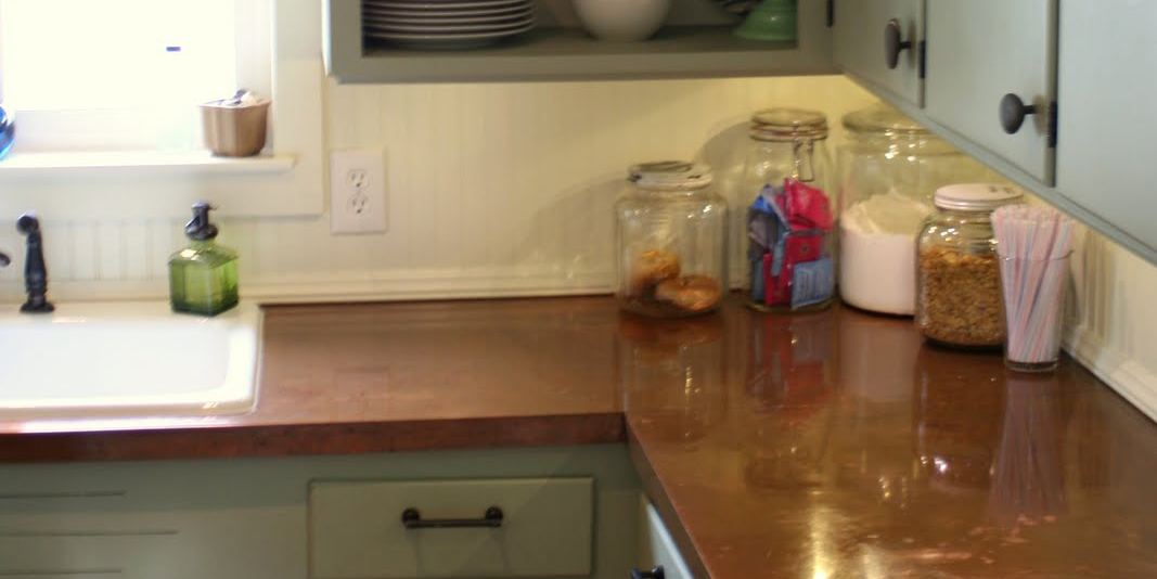 Remodelaholic Copper Countertops Tutorial Kitchen