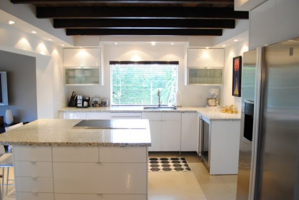 remodelaholic bright and beautiful kitchen remodel 600x402 ikea akurum cabinets - Ikea Akurum Kitchen Cabinets
