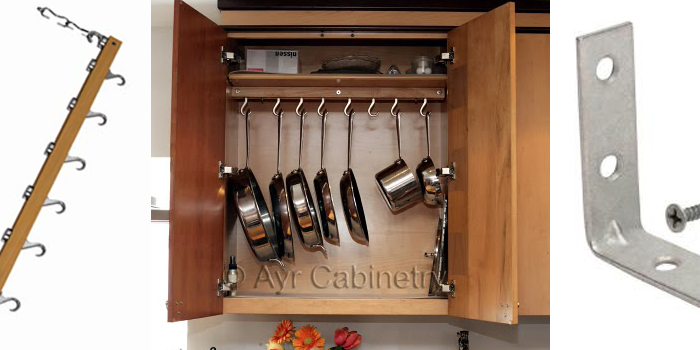 Remodelaholic | Installing An In-Cupboard Pot Rack