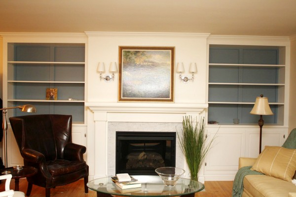 ... Living Room Remodel, Adding A Fireplace And Built In Bookshelves (11) Part 85