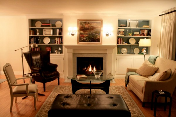 Living Room With Fireplace And Helves remodelaholic | living room remodel, adding a fireplace and built