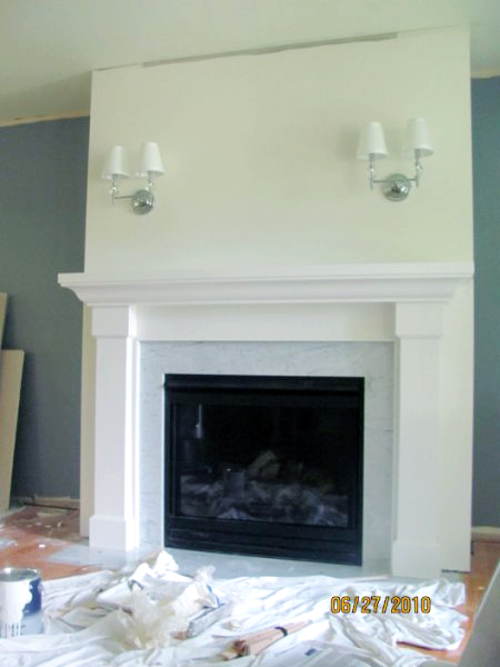Living Room Remodel Adding A Fireplace And Built In Bookshelves 8