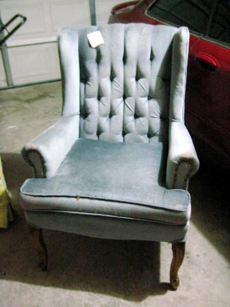 Hints For Recovering A Wingback Chair (2)