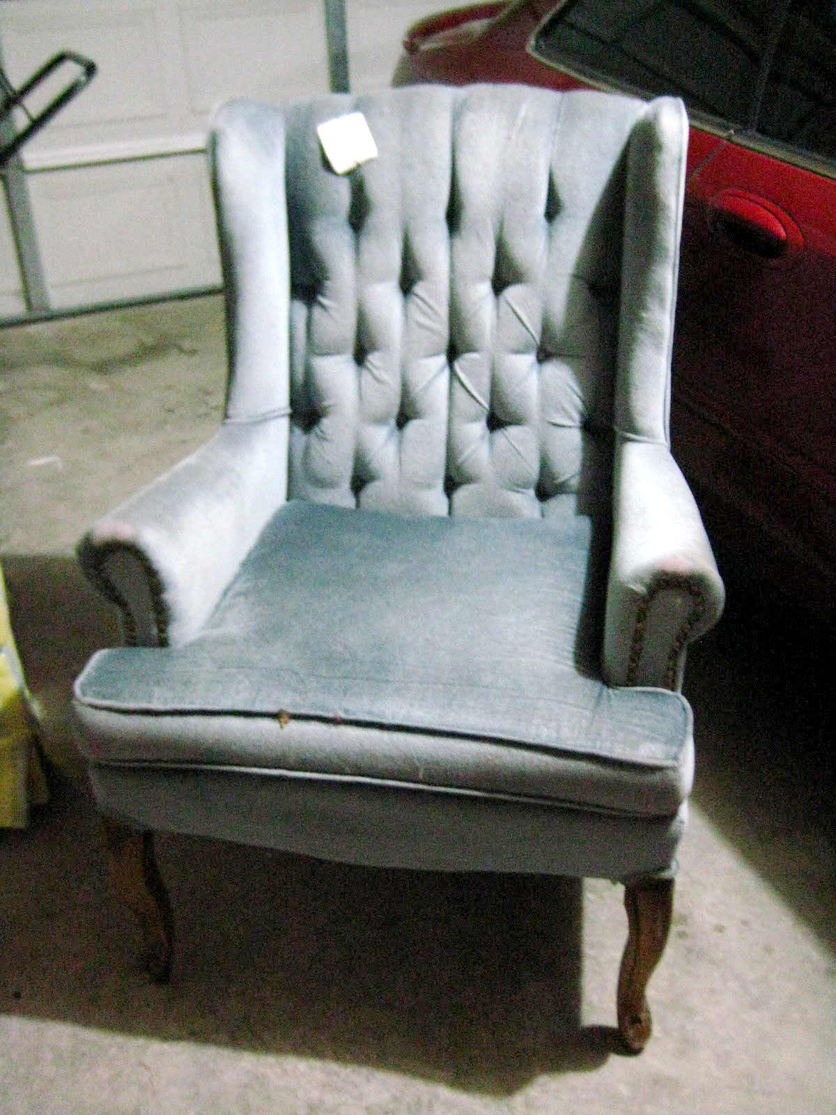 hints for recovering a wingback chair