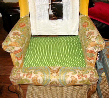 hints for recovering a wingback chair (6)
