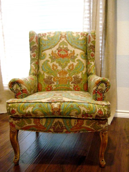 hints for recovering a wingback chair (8)