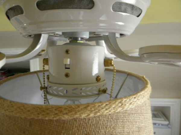 Remodelaholic Beautifying A Ceiling Fan With A Shade