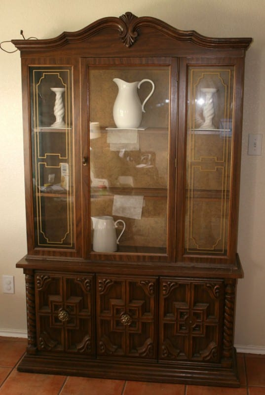 How To Redo A Dish Display Hutch Cabinet, By @Remodelaholic