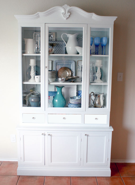 How To Redo A Kitchen Hutch With New Doors And Drawers, By @Remodelaholic