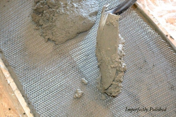 How To Build Your Own Concrete Kitchen Countertops, A Tutorial, By Imperfectly Polished Featured On @Remodelaholic