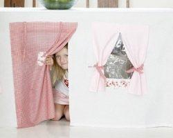 Tablecloth-play-house