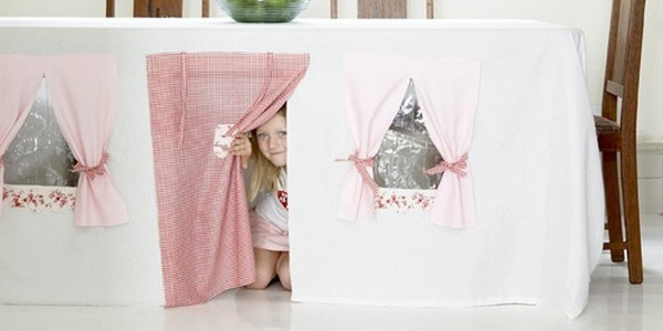 Tablecloth-play-house