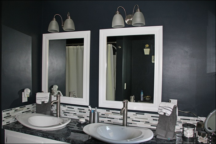 Remodelaholic Black Amp White Painted Bathroom Remodel